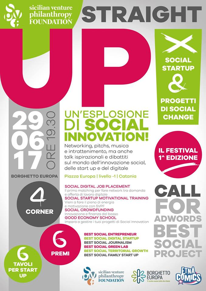 Prima Edizione del Festival Straight UP per la Social Innovation